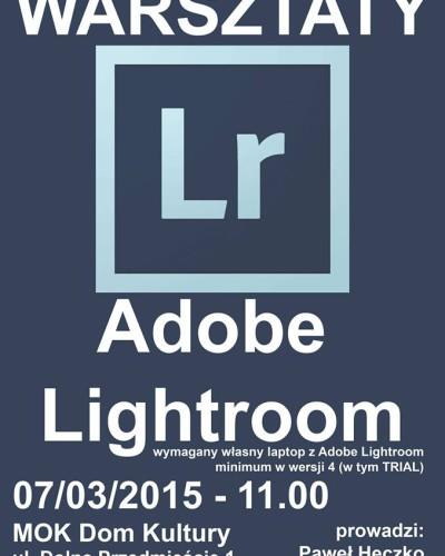 MOK Żory: Bezpłatne warsztaty Lightroom