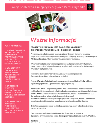 Akcja społeczna z inicjatywy Śląskich Pereł z Rybnika
