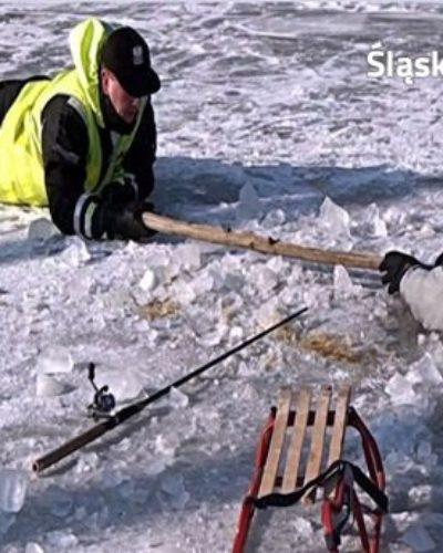 Pomimo dodatniej temperatury policja apeluje, by nie wchodzić na lód